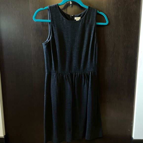 J. Crew Sleeveless Dark Grey Dress
